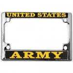 United States Army Motorcycle License Plate Frame