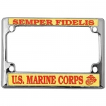 United States Marine Corps Semper Fidelis Motorcycle License Plate Frame