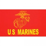 USMC Gold Flag- Super Poly 3' x 5'