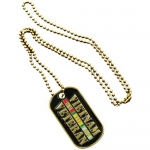 Vietnam Veteran Gold Dog Tag