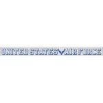 "U.S. Air Force Decal - 19"" - USAF Wing - Strip"