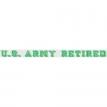 "U.S. Army Decal - 20"" - ""U.S. Army Retired"" Strip"
