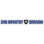 "U.S. Army Decal - 14"" - ""2nd Infantry Div"" - Strip"