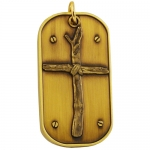 Dog Tag Wooden Cross