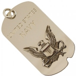 United States Navy Diamond Etched Dog Tag