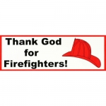 "Firefighter Decal - Bumper Sticker - ""Thank God.."""