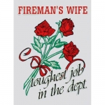 "Firefighter Decal - 3"" x 4"" Fireman's Wife Tough.."