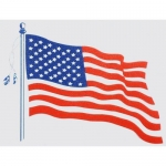 "U.S.A. Flag - 4.5"" x 4"" - Vinyl Sticker - Flag"