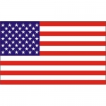 "U.S.A. Flag - 2.25"" x 4"" - Vinyl Sticker - Flag"