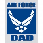 "U.S. Air Force Decal - 3"" x 4"" - ""Air Force Dad"""