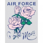 "U.S. Air Force Decal - 3"" x 4"" - ""Air Force Mom"""