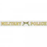 "U.S. Army Decal - 16"" - ""Military Police"" - Strip"