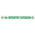 "U.S. Army Decal - 16"" - 4th Infantry - Strip"