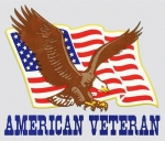 "Veteran Decal - 4.75"" x 4"" - ""American Veteran"""
