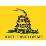 "Assorted Decal - 3"" x 4"" - ""Don't Tread On Me"""