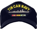 US Navy Ballcap - Tin Can Navy - Destroyer with Ribbons