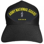 US Army ID Ballcap - Army National Guard with Guardsman - Black
