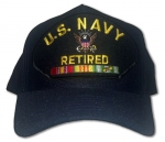 Veteran ID Ball Cap - Navy Retired with Eagle