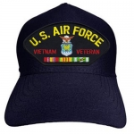 USAF ID Ballcap Veteran Vietnam with Ribbons