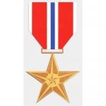 "Assorted Decal - 5"" x 3"" - Bronze Star"