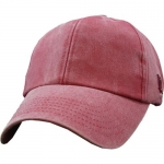 Ballcap - Blank - Crimson Distressed