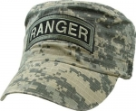 US Army Flattop Cap - Ranger on washed ACU Camo