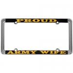United States Army Proud Army Wife License Plate Frame