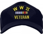 Veteran Ball Cap - WWII Veteran with 2 Ribbons
