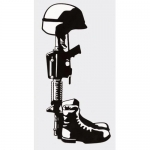 "Assorted Decal - 3"" x 6"" - Fallen Hero"