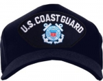USCG Ballcap - Coast Guard w/ Logo - Black