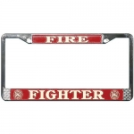 United States Fire Fighter License Plate Frame