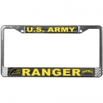 United States Army Ranger License Plate Frame