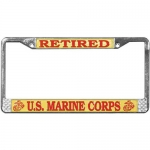 United States Marine Corps Retired License Plate Frame