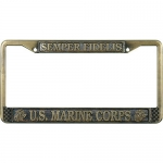 United States Marine Corps Semper Fidelis License Plate Frame
