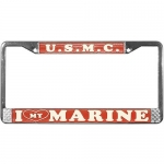 United States Marine Corps I Love My Marine License Plate Frame