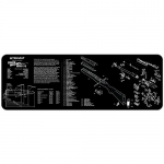 "TekMat Mini-14 Gun Cleaning Mat 12"" x 36"" Long - Black"