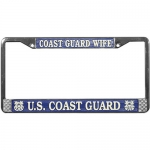 United States Coast Guard Wife License Plate Frame