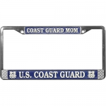 United States Coast Guard Mom License Plate Frame
