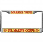 United States Marine Corps Wife License Plate Frame.