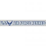 "U.S. Air Force Decal - 14"" - ""USAF Retired"" Strip"