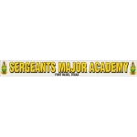 "U.S. Army Decal - 15"" - ""Sergeants Major Academy"" Strip"