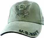 "US Navy Ballcap - Eagle Emblem with ""U.S. Navy"" on Brim"