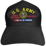 US Army ID Ballcap - Veteran Korean War with Army Seal-Dates and Ribbons