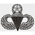"US Army Decal - 8"" - Master Parachutist Large"
