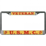 United States Marine Corps Veteran License Plate Frame