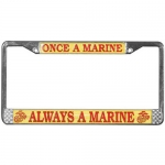 United States Marine Corps Once a Marine Always a Marine License Plate Frame