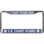 United States Coast Guard Dad License Plate Frame