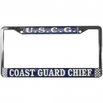 United States Coast Guard Chief License Plate Frame