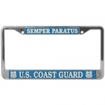 United States Coast Guard Semper Paratus License Plate Frame