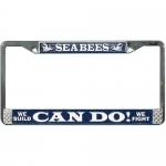 United States Navy Seabees - Can Do - License Plate Frame